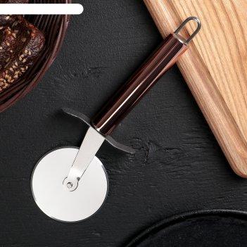 Нож для пиццы и теста блеск, 21 см, цвет бронзовый