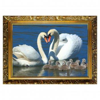 Алмазная мозаика лебединая семья 29,5x20,5см, 24 цветов nr- 51