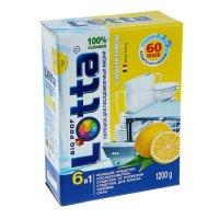 Порошок для посудомоечных машин lotta с запахом лимона 6 в 1, 1200 гр