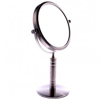 Зеркало tsmt 1160 настольное металл. 2-х сторон. 5-ти кр. увелич. (6/12)