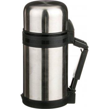 Термос с широким горлом 600 мл, крышка-чашка, плас...