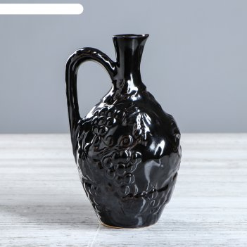 Бутылка лоза черная глазурь, золото 0,7 л