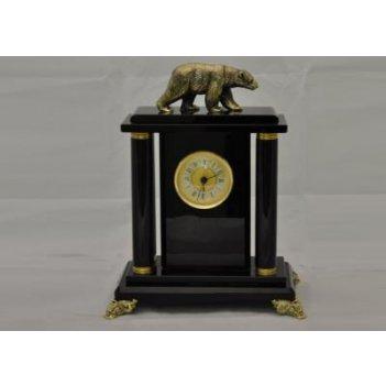 Часы настольные с фигуркой медведя 350х160х390 арт. ч-004