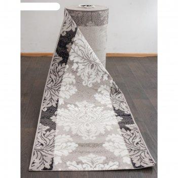 Ковровая дорожка silver d213, 120x3000 см, цвет gray