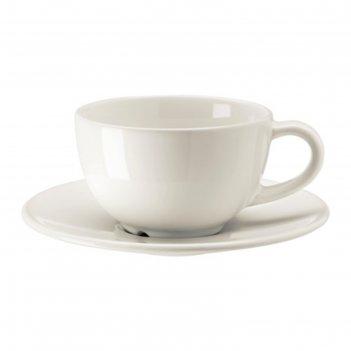 Чашка кофейная с блюдцем, белый вардаген