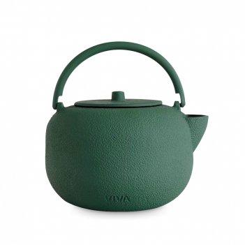 Чайник заварочный с ситечком, объем: 800 мл, материал: чугун, нержавеющая