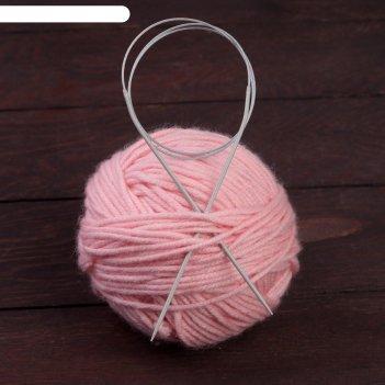 Спицы для вязания, круговые, с тефлоновым покрытием, с металлической леско