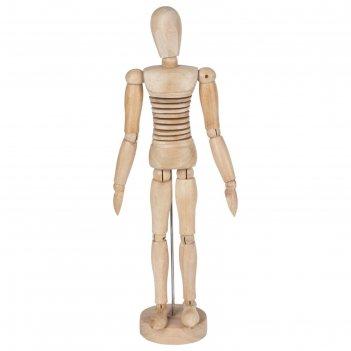 Деревянная фигура гибкая, «мужчина», высота 30 см, brauberg