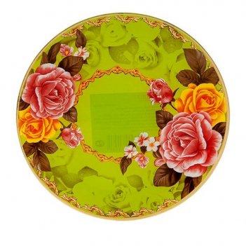 Блюдо сервировочное розы d=20см. (min6) (стекло) (транспортная упаковка)