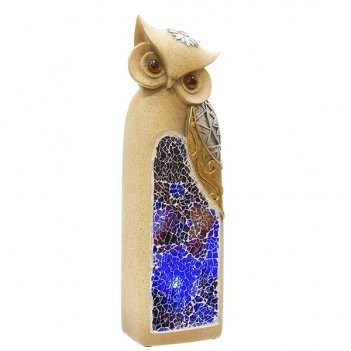 Фигурка декоративная сова с подсветкой (2 режима), 7х6х20.5 ...
