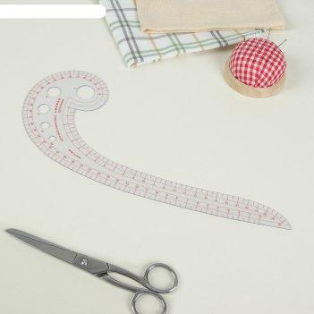 Лекало швейное фигурное улитка, прозрачное