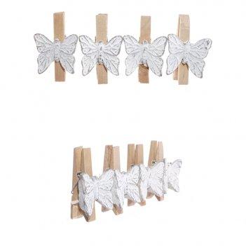 Набор из 4 прищепок бабочка, 11.5х2х4.5 см