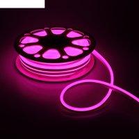 Гибкий неон 8 х 16 мм, 25 метров, led-120-smd2835, 220 v, розовый