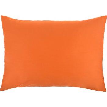 Наволочка бейсик 50*70 см. 100% хлопок, сатин, оранжевый