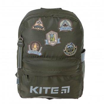 Рюкзак школьный эргоном.спинка kite мал 719 38*26*11 camping, зелёный k19-