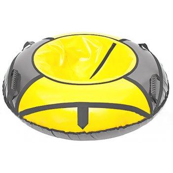 Тюбинг: ватрушка для катания 125см желтый-серый
