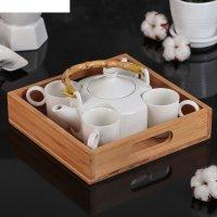 Набор чайный эстет, 5 предметов: 4 кружки 80 мл, чайник 220 мл, на деревян
