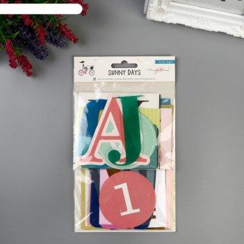 Набор высечек crate paper - буквы «sunnydays» - 32 шт.