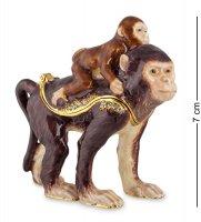 Smt-28 шкатулка обезьяна с детенышем (nobility)