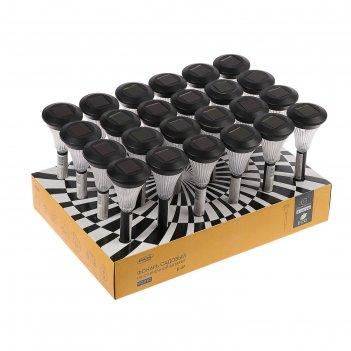 Фонарь садовый на солнечной батарее конус 31,5 см, d-7 см, 1 led, пластик