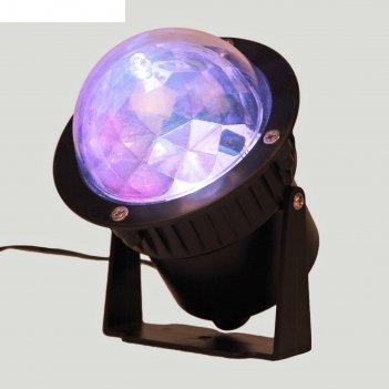 Световой прибор хрустальный уличный шар, d=7.5 см с пультом управления,ip6