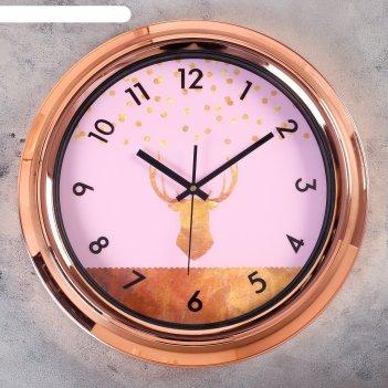 Часы настенные, серия: интерьер, бакода, d=45 см