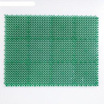 Покрытие ковровое щетинистое 36х48 см травка-эконом цвет зелёный