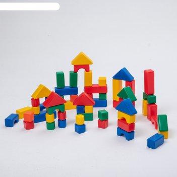 Строительный набор, 60 элементов, 4 х 4 см