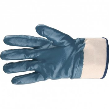 Перчатки трикотажные с обливом из бутадиен-нитрильного каучука, крага, l с