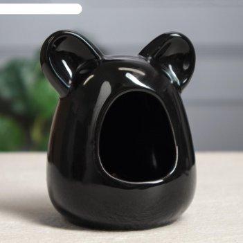 Кормушка для грызунов , цвет черный , 10 см