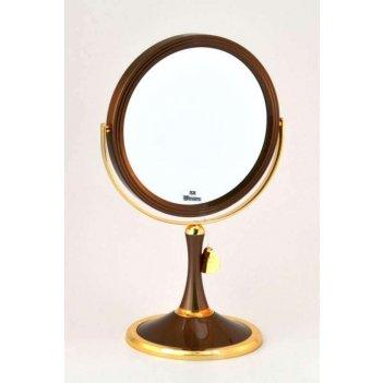 Зеркало b7 207 brz/g bronze&gold настольное 2-стор. 5-кр.ув.