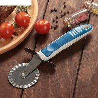 Нож для пиццы и теста ребристый бистро 20 см цвета микс