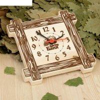 Часы настенные банные в рамке