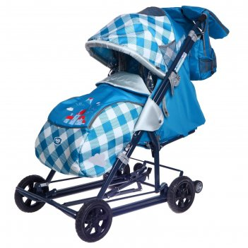 Санки-коляска «ника детям 8-2», капри в клетку