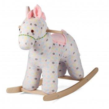 Качалка «лошадка зефирка» цвет розовый