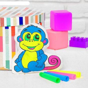 Игрушка-раскраска «обезьянка»(без маркеров) в пакете