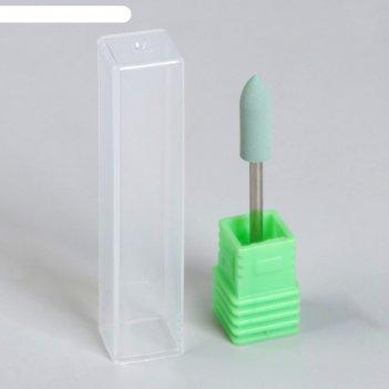 Фреза силиконовая для полировки, мягкая, 5 x 16 см, цвет светло - зелёный
