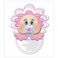 """""""магнит младенец розовый"""" рисунок для вышивания бисером"""