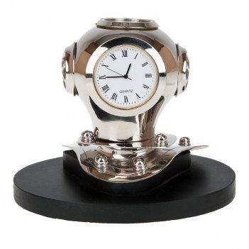 Часы настольные с компасом (часы-d=4,5см. батарейка-1sr626w) 1