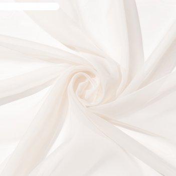 Тюль «этель» 290x300 см, цвет молочный, вуаль, 100% п/э