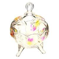 Сахарница стекло венеция, листва, с крышкой, 9,5*13 см
