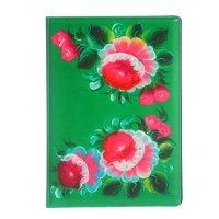 Обложка для паспорта зеленые цветы
