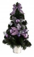 Ёлка подвесная настенная с фиолетовым декором