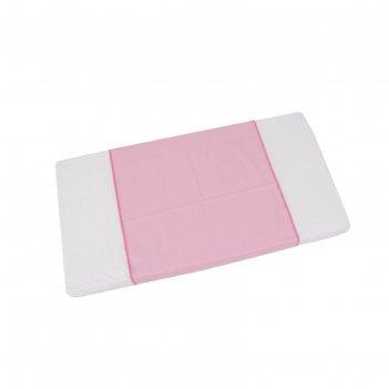 Пеленка-клеенка фея окантованная 68 х 100  см, розовая