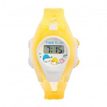 Часы наручные детские забава, электронные, ремешок силикон прозрачный, мик