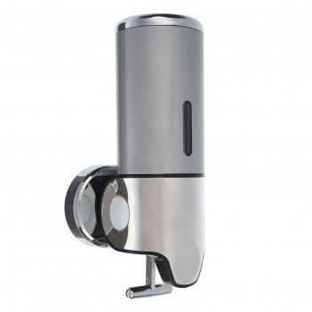 Диспенсер жидкого мыла механический 400 мл, металл, черный