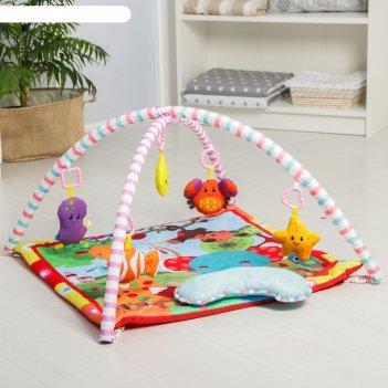 Развивающий коврик с дугами «слоник и друзья», 5 элем. с музыкой