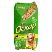 Сухой корм оскар для взрослых собак, с ягненком и рисом, 13 кг