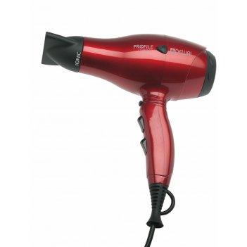 Фен dewal profile compact 2000 вт, красный, ионизация, (2 насадки)