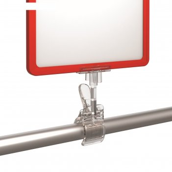 Держатель пластиковой рамки универсальный, 5,5*5*12, цвет прозрачный